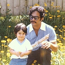 1979 Fidel and his father, Rick
