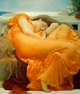 Flaming June by Frederic, Lord Leighton