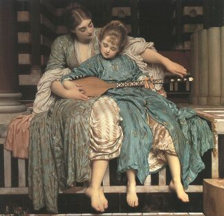 The Music Lesson by Frederic, Lord Leighton