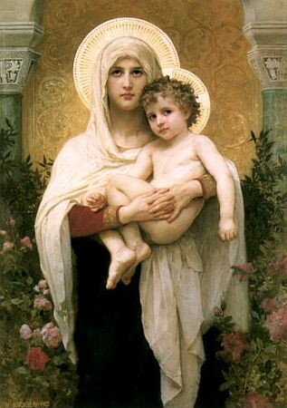 Madonna of the Roses by Adolphe-William Bouguereau