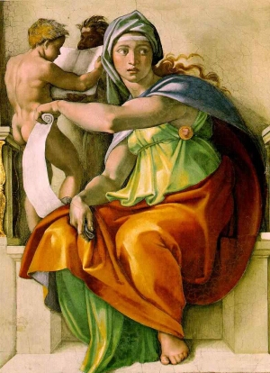 Michelangelo, The Delphic Sibyl, 1509, Sistine Chapel