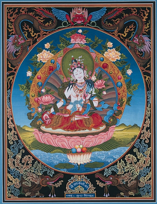 White Tara by unknown artist
